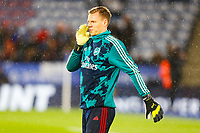 9th November 2019; King Power Stadium, Leicester, Midlands, England; English Premier League Football, Leicester City versus Arsenal; Bernd Leno of Arsenal is pictured during the pre-match warm-up - Strictly Editorial Use Only. No use with unauthorized audio, video, data, fixture lists, club/league logos or 'live' services. Online in-match use limited to 120 images, no video emulation. No use in betting, games or single club/league/player publications
