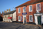 Shops in village centre, Wickham Market, Suffolk, England