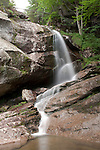 Bridal Veil Falls runs between Cannon Mt and The Cannon Balls, in the White Mountain National Forest.