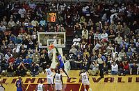 New York Knicks Power Forward Amare  Stouidmarie dunks on Power Forward Aninto Jamison on January 31,2013