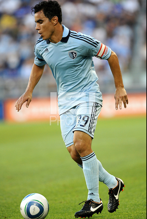 Omar Bravo (99) midfielder Sporting KC in actiom... Sporting Kansas City were defeated 1-2 by Seattle Sounders at LIVESTRONG Sporting Park, Kansas City, Kansas.