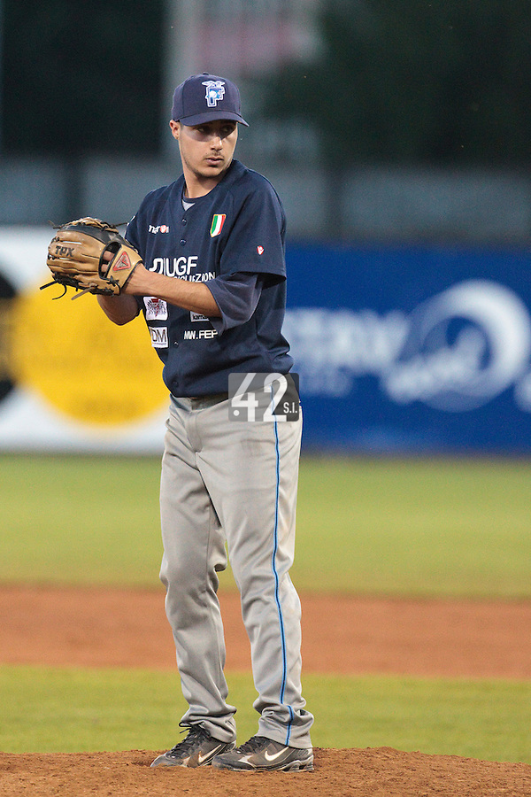 05 June 2010: Alessandro Ularetti of Bologna pitches against Rouen during the 2010 Baseball European Cup match won 10-0 by Fortitudo Bologna over the Rouen Huskies, at the AVG Arena, in Brno, Czech Republic.
