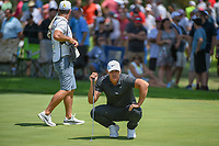 Brooks Koepka (USA) lines up his putt on 7 during 3rd round of the World Golf Championships - Bridgestone Invitational, at the Firestone Country Club, Akron, Ohio. 8/4/2018.<br /> Picture: Golffile | Ken Murray<br /> <br /> <br /> All photo usage must carry mandatory copyright credit (© Golffile | Ken Murray)