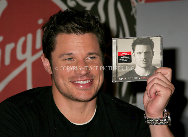 WWW.ACEPIXS.COM . . . . .  ....NEW YORK, MAY 9, 2006....Nick Lachey at Virgin Megastore signing copies of his new cd 'Whats Left of Me'.....Please byline: NANCY RIVERA- ACEPIXS.COM.... *** ***..Ace Pictures, Inc:  ..Craig Ashby (212) 243-8787..e-mail: picturedesk@acepixs.com..web: http://www.acepixs.com