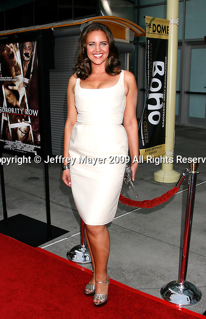 "HOLLYWOOD, CA. - September 03: Miracle Laurie arrives at the Los Angeles premiere of ""Sorority Row"" at the ArcLight Hollywood theater on September 3, 2009 in Hollywood, California."