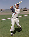 Cleveland Indians Larry Doby (7) portrait from his 1952  season with the Cleveland Indians.  Larry Doby played for 13 years with 3 different teams. Remembered for being the first African-American in the American League.  Larry Doby was a 7-time All-Star and was inducted to the Baseball Hall of Fame in 1998.