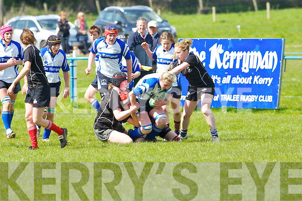 Tralee's Siobhan Fleming in action against Gallbally in the women's all Ireland league at O'Dowd park, Tralee on Sunday.