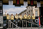 Team Jumbo-Visma at the team presentations in Compiegne before Paris-Roubaix 2019, Compiegne, France. 13th April 2019<br /> Picture: ASO/Pauline Ballet | Cyclefile<br /> All photos usage must carry mandatory copyright credit (© Cyclefile | ASO/Pauline Ballet)