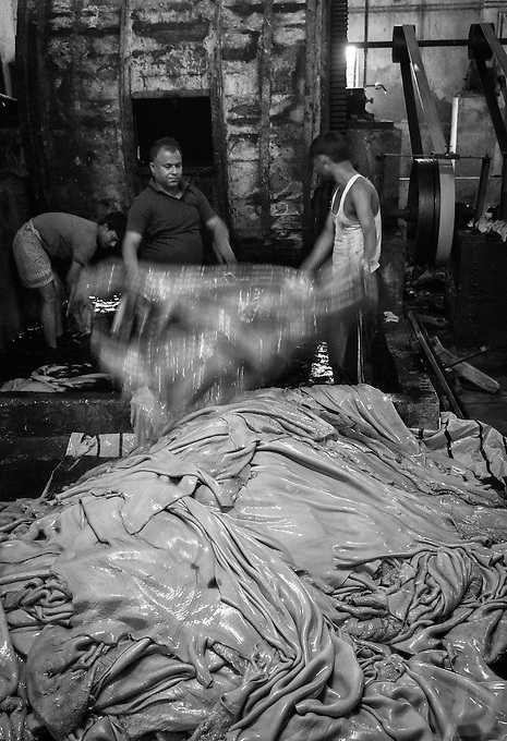 A Leather Tannery outside of Kolkata, West Bengal, India