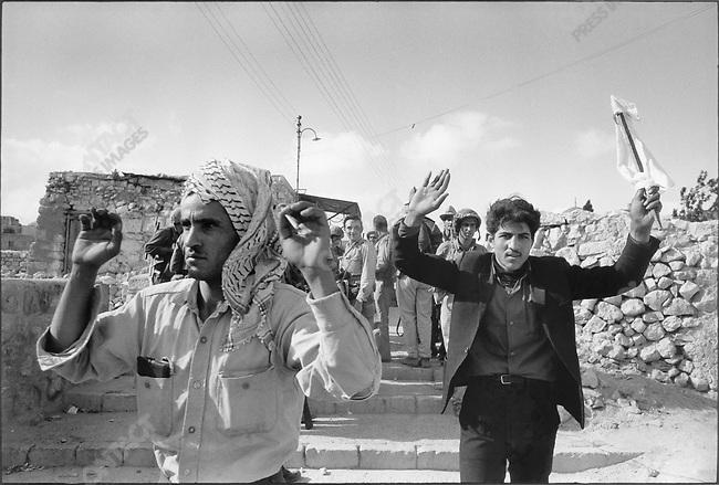 Six Day War, Prisoners in the hands of Israeli troops, Six Day War, Jerusalem, Israel, June 1967