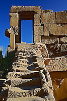 Stairway and door frame, Temple of Karnak, located at modern day Luxor or ancient Thebes, Egypt
