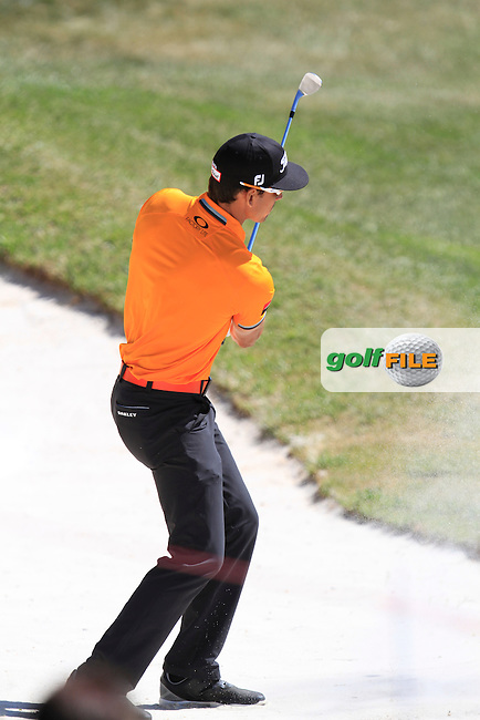 Rafa Cabrera-Bello (ESP) on the 2nd during Round 2 of the Open de Espana  in Club de Golf el Prat, Barcelona on Friday 15th May 2015.<br /> Picture:  Thos Caffrey / www.golffile.ie
