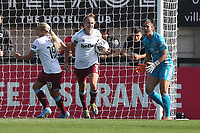 Martha Thomas of West Ham scores the first goal for her team and celebrates during Arsenal Women vs West Ham United Women, Barclays FA Women's Super League Football at Meadow Park on 8th September 2019