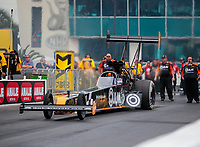 Mar 16, 2019; Gainesville, FL, USA; NHRA top fuel driver Lex Joon during qualifying for the Gatornationals at Gainesville Raceway. Mandatory Credit: Mark J. Rebilas-USA TODAY Sports