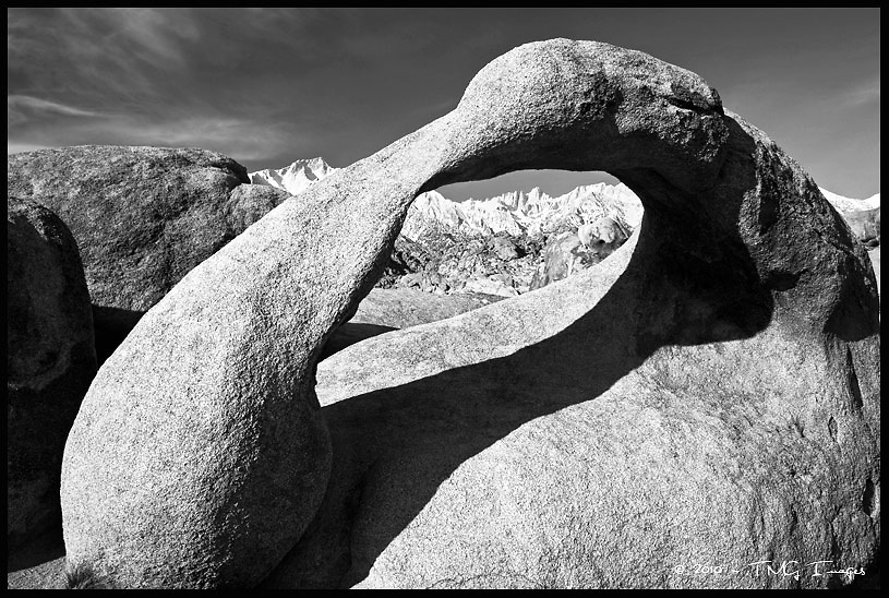 Mobius Arch and Mt. Whitney<br /> Alabama Hills National Recreation Area, California