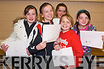 ART: Doireann Tarrant, Liz Stack, Maimie O'Flynn, Joanne Lynch and Sarah Broderick (all Listowel) taking part in the 8-16 category of the Art and Model making competition, in St. Michael's College, Listowel on Friday night.   Copyright Kerry's Eye 2008