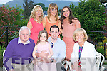 Billy O'Connor, Killarney, pictured with Chiarda, Pat, Breda, Jessica, Aisling and Tara O'Connor as he celebrated his 30th birthday in Randles Court, Killarney on Saturday night. ........................................................................