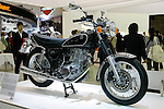 Yamaha SR400 (F.I.) on display during the first press day for the 41th Tokyo Motor Show, 21 October 2009 in Tokyo (Japan). The TMS will be open for the public from 23 October 2007 to 4 November 2009.