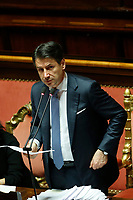 Giuseppe Conte during his speech<br /> Rome December 12th 2019. Speech of the Italian Premier about MES, European Stability Mechanism.<br /> Foto Samantha Zucchi Insidefoto