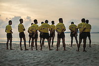 February 19, 2013 - Koh Rong (Sihanoukville). A group of deminers make exercises in the beach of the island of Koh Rong, off the coast of Sihanoukville. © Thomas Cristofoletti / Ruom