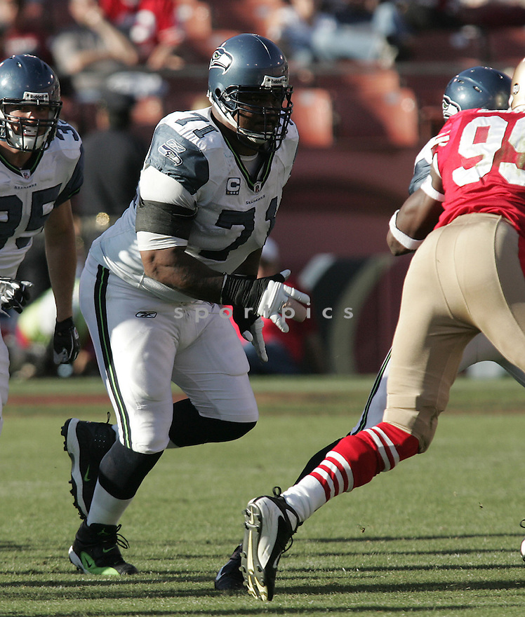 WALTER JONES, of the Seattle Seahawks, in action against the San Francisco 49ers during the Seahawks game in San Francisco, ca on October 26, 2008. .. Seahawks   win 34-13
