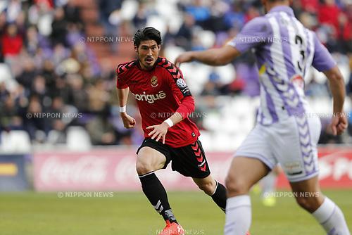 "Daisuke Suzuki (Tarragona), MARCH 25, 2017 - Football / Soccer : Spanish ""Liga 123"" match between Real Valladolid 1-2 Gimnastic Tarragona at the Estadio Jose Zorrilla in Valladolid, Spain. (Photo by Mutsu Kawamori/AFLO) [3604]"