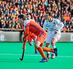 ROTTERDAM -  Arjen Lodewijks (NED)   tijdens   de Pro League hockeywedstrijd heren, Nederland-Spanje (4-0) . COPYRIGHT KOEN SUYK
