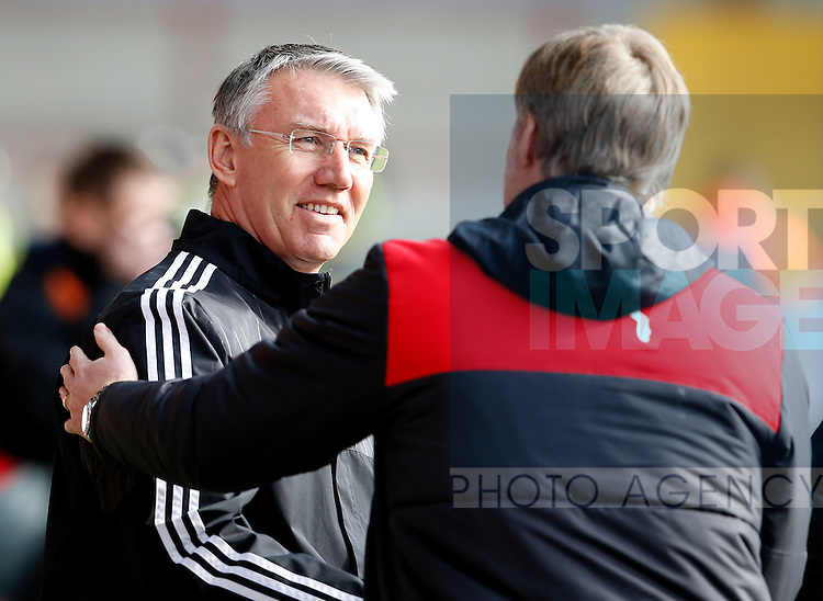 Nigel Adkins manager of Sheffield Utd - English League One - Fleetwood Town vs Sheffield Utd - Highbury Stadium - Fleetwood - England - 5rd March 2016 - Picture Simon Bellis/Sportimage