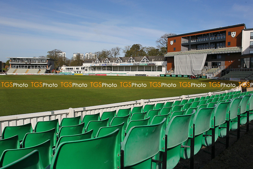 General view of the ground prior to the start of Worcestershire CCC vs Essex CCC, Specsavers County Championship Division 2 Cricket at New Road on 3rd May 2016