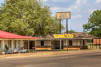 The old Elm Motel on Route 66 in Erick Oklahoma.
