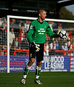 Simon Overland of Hayes and Yeading during the Blue Square Premier match between Stevenage Borough and Hayes and Yeading United at the Lamex Stadium, Broadhall Way, Stevenage on 10th October, 2009.© Kevin Coleman 2009 .