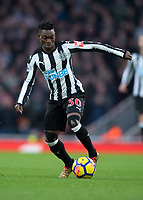 Christian Atsu of Newcastle United during the Premier League match between Arsenal and Newcastle United at the Emirates Stadium, London, England on 16 December 2017. Photo by Vince  Mignott / PRiME Media Images.