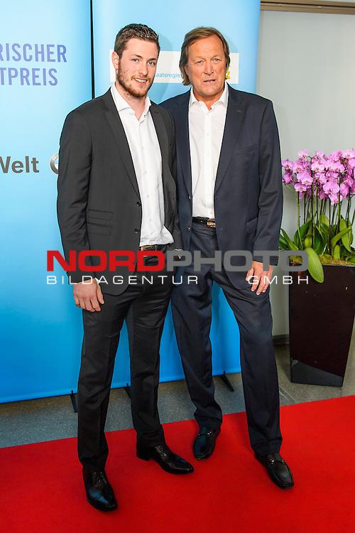 16.07.2016, BMW Welt, Muenchen, GER, Bayerische Sportpreis 2016, im Bild Erich K&uuml;hnhackl mit Sohn Tom<br /> <br />  Foto &copy; nordphoto / Straubmeier