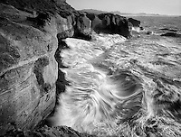 Shoreline waves near Devil's Punchbowl, Oregon