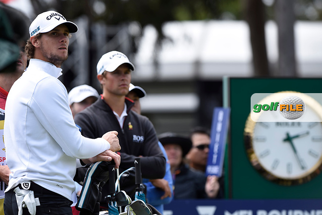 Thomas Pieters (BEL) and Thomas Detry (BEL) during the 3rd round of the World Cup of Golf, The Metropolitan Golf Club, The Metropolitan Golf Club, Victoria, Australia. 24/11/2018<br /> Picture: Golffile | Anthony Powter<br /> <br /> <br /> All photo usage must carry mandatory copyright credit (© Golffile | Anthony Powter)