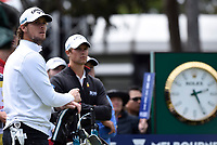 Thomas Pieters (BEL) and Thomas Detry (BEL) during the 3rd round of the World Cup of Golf, The Metropolitan Golf Club, The Metropolitan Golf Club, Victoria, Australia. 24/11/2018<br /> Picture: Golffile | Anthony Powter<br /> <br /> <br /> All photo usage must carry mandatory copyright credit (&copy; Golffile | Anthony Powter)
