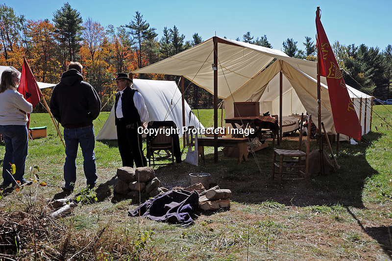 Civil War Reenactment Union Camp Tent