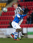 St Johnstone v St Mirren.....23.02.13      SPL.Nigel Hasselbaink and Conor Newton.Picture by Graeme Hart..Copyright Perthshire Picture Agency.Tel: 01738 623350  Mobile: 07990 594431