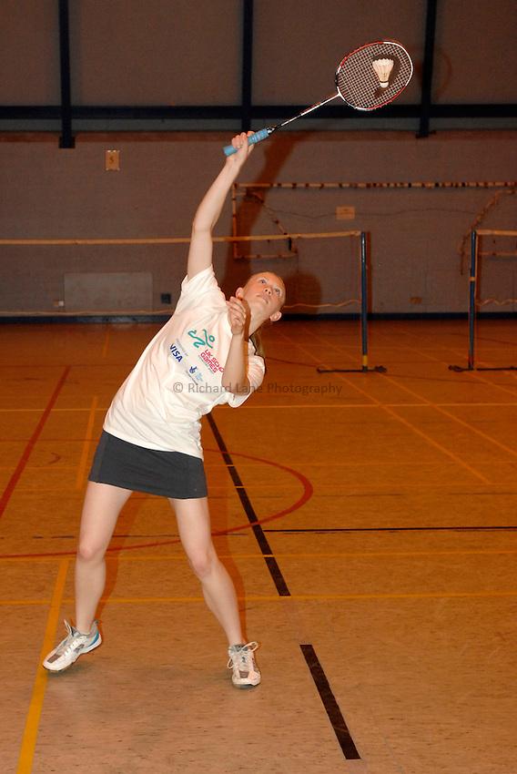 Photo: Richard Lane/Richard Lane Photography..UK Schools Games Press Conference, Coventry. 25/07/2007. .England schools badminton player, Hayley Rogers.