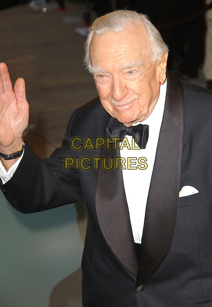 WALTER CRONKITE.The 2007 Vanity Fair Oscar Party Hosted by Graydon Carter held at Morton's, West Hollywood, California, USA,.25 February 2007..half length bow tie.CAP/ADM/GB.©Gary Boas/AdMedia/Capital Pictures.