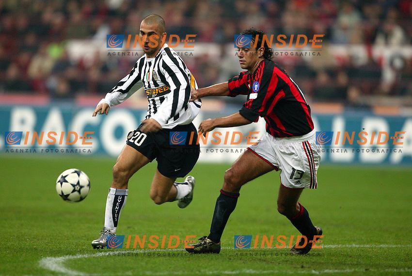 Milano 1/11/2003 <br /> Milan Juventus 1-1<br /> MArco Di Vaio (Juventus) Alessandro Nesta (Milan)<br /> Foto Baroncini/Insidefoto