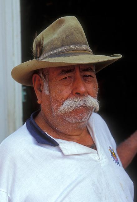 Man with mustache, Ocotlan de Morelos, Oaxaca State, Mexico, North America
