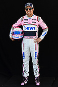 22nd March 2018, Melbourne Grand Prix Circuit, Melbourne, Australia; Melbourne Formula One Grand Prix, Arrivals and Press Conference; Sergio Perez of Mexico  poses for a portrait