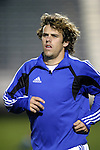 27 March 2004: Wizards rookie Matt Taylor warms up before the game. Los Angeles Galaxy defeated the Kansas City Wizards 1-0 at SAS Stadium in Cary, NC in the final preseason game for both Major League Soccer teams as part of the Cary Pro Kickoff Invitational tournament..
