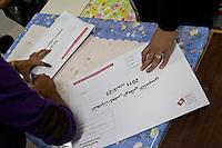 23 ottobre 2011 Tunisi, elezioni libere per l'Assemblea Costituente, le prime della Primavera araba: buste con i simboli delle elezioni.<br /> premieres elections libres en Tunisie octobre <br /> tunisian elections