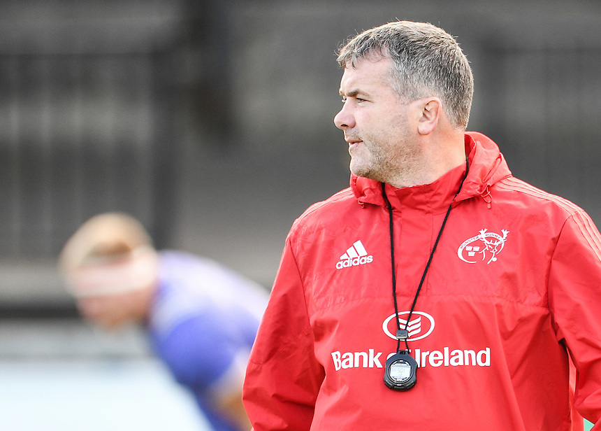 Head Coach Anthony Foley of Munster during the pre match warm up<br /> <br /> Photographer Craig Thomas/CameraSport<br /> <br /> Guinness PRO12 Round 3 - Newport Gwent Dragons v Munster Rugby - Saturday 17 September 2016 - Rodney Parade - Newport<br /> <br /> World Copyright &copy; 2016 CameraSport. All rights reserved. 43 Linden Ave. Countesthorpe. Leicester. England. LE8 5PG - Tel: +44 (0) 116 277 4147 - admin@camerasport.com - www.camerasport.com
