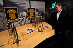 The yellow jersey stars at the museum. An exhibition to celebrate the 100 years of the Tour de France Yellow Jersey opens from today at the Mus&eacute;e National du Sport, before the start of Stage 8 of the 77th edition of Paris-Nice 2019 running 110km from Nice to Nice, France. 16th March 2019<br /> Picture: ASO/Alex Broadway | Cyclefile<br /> All photos usage must carry mandatory copyright credit (&copy; Cyclefile | ASO/Alex Broadway)