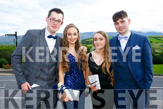 Enjoying the Killarney secondary schools Debs at Ballyroe Heights Hotel on Monday were Ross Brennan, Lorna O Neill, Rachel Montgomery and James Flynn
