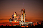 Cape Canaveral, FL - November 15, 2009 -- The space shuttle Atlantis is seen on launch pad 39a of the National Aeronautics and Space Administration's (NASA) Kennedy Space Center shortly after the rotating service structure was rolled back, Sunday, November 15, 2009, Cape Canaveral, Florida.  Atlantis is scheduled to launch at 2:28p.m. EST, Monday, November 16, 2009. .Mandatory Credit: Bill Ingalls - NASA via CNP