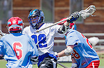 Orange, CA 05/17/14 - Seth Kuehnl (Grand Valley State #28) in action during the 2014 MCLA Division II Men's Lacrosse Championship game between Grand Valley State University and St John University at Chapman University in Orange, California.  Grand Valley Defeated St John 12-11.